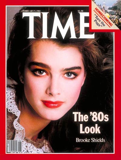 Here is how people remember 80's makeup: flawless skin,