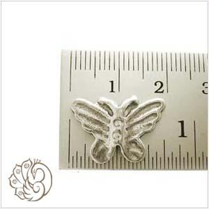 silver butterfly beads