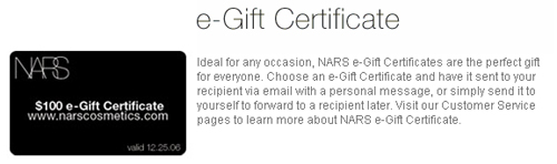 nars e gift certificate