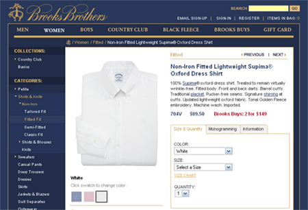 brooks brothers supima cotton shirt