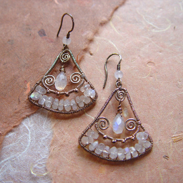 natural jewels moonstone earrings