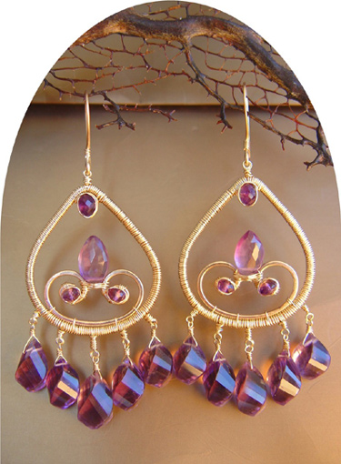 nina rossi amethyst earrings