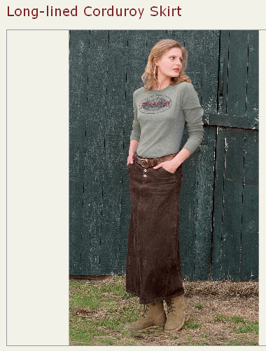 sundance long-lined corduroy skirt