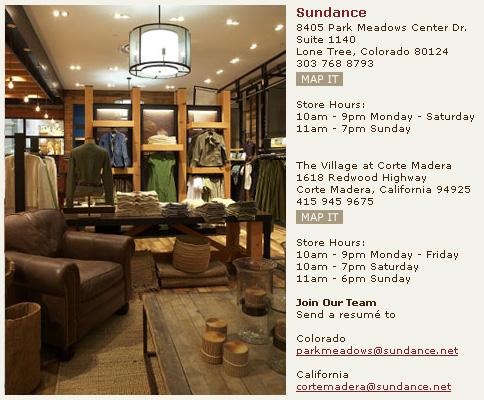sundance store open