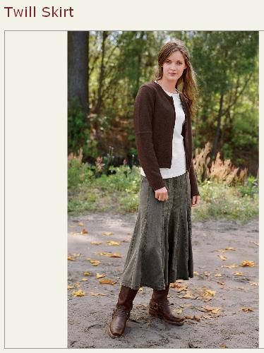 sundance twill skirt