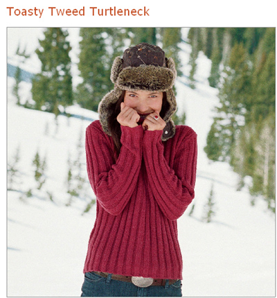 sundance catalog toasty tweed sweater