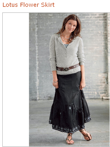 sundance lotus flower skirt