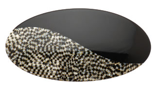 oval two-tone barrette
