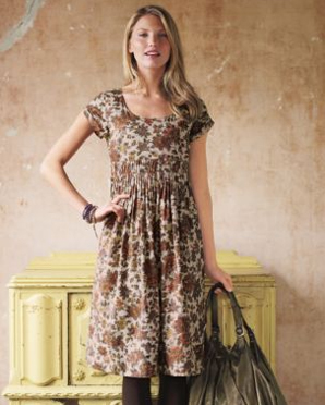 print cotton lawn dress