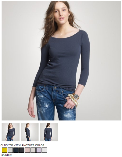 j.crew boatneck painter tee
