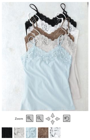 lace trimmed camisoles