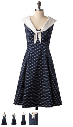 polka dot sailor dress