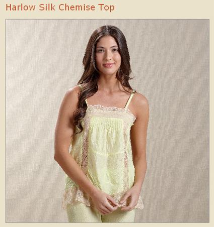 harlow silk chemise top