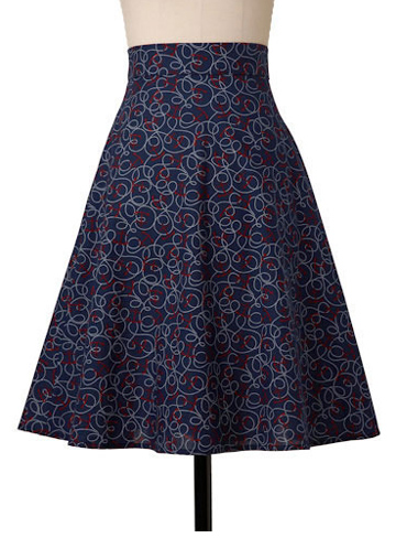 anchor print skirt