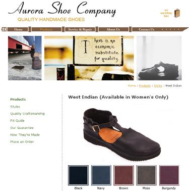 aurora shoe company west indian shoe