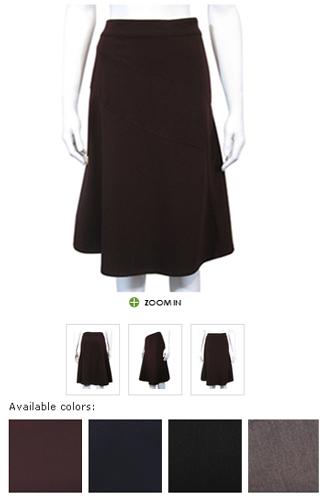 grey gabardine skirt