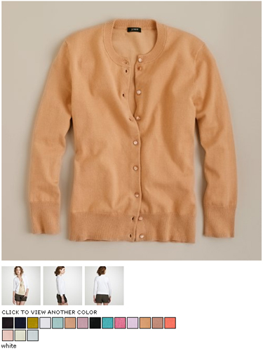 jcrew jackie cardigan in sand dune