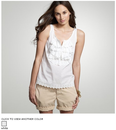 j crew switzel swiss-dot cami