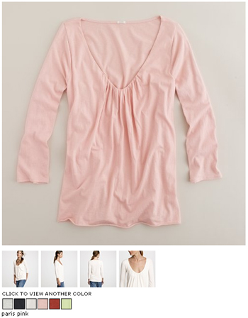 j.crew tissue pleated top