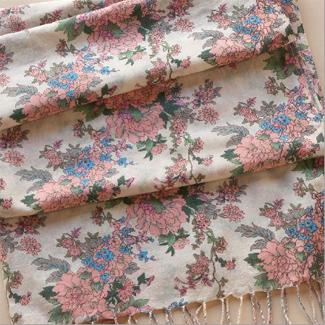 kimono print scarf