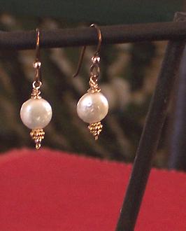 baby coin pearl earrings