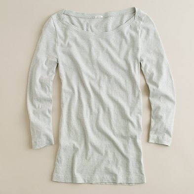 j crew boatneck painter tee in soft dove