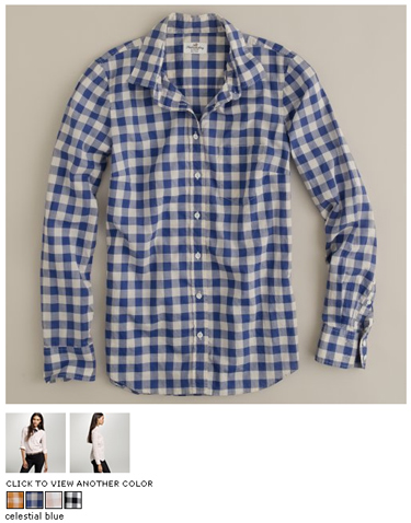 j.crew buffalo check boy shirt in celestial blue