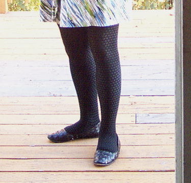 mp checkered pattern tights