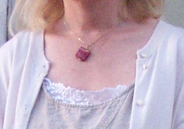 handmade venetian glass pendant