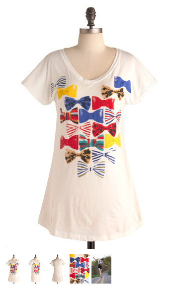 bows tee shirt at modcloth