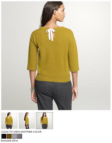 j.crew cashmere keyhole sweater