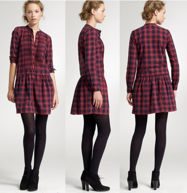 j.crew plaid sundrine dress