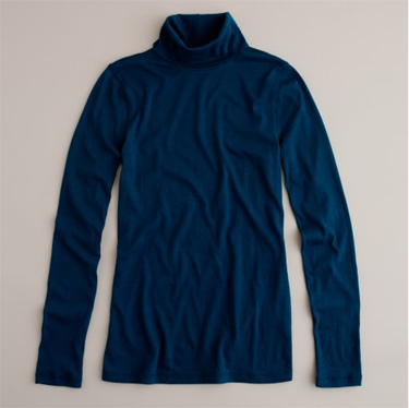 j.crew tissue turtleneck in nightfall blue