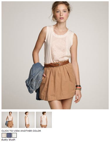 jcrew eyelet embroidered tank in dusty blush