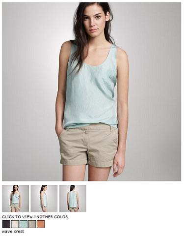 j.crew silk pocket tank
