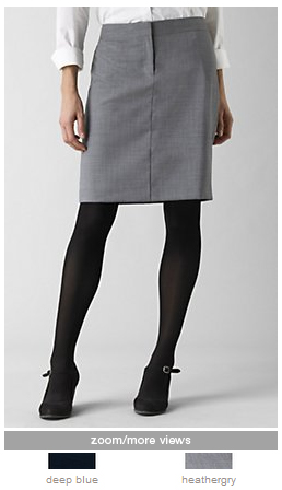 jjill washable wool skirt
