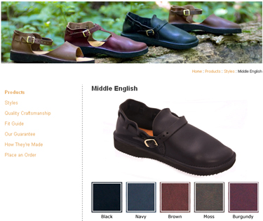 aurora shoe company middle english shoe