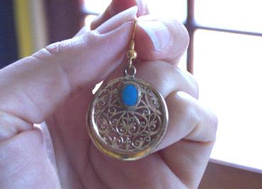vermeil filigree earring