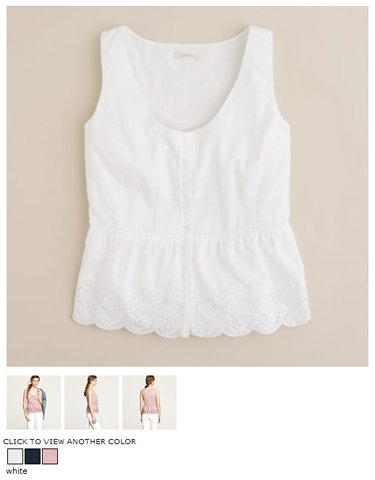 j.crew alyssa top