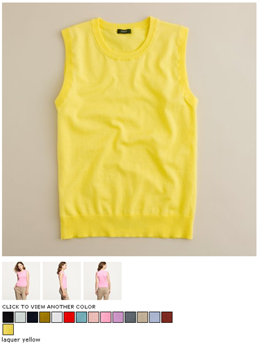 j.crew jackie shell in laquer yellow