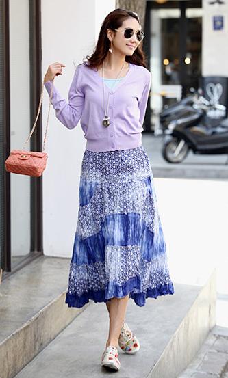 yesstyle tie dye skirt