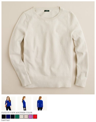 j.crew jackie pullover in canvas