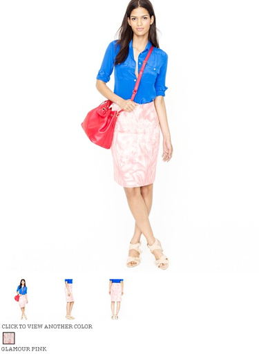 j.crew no. 2 pencil skirt in waterfloral