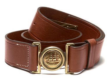 belt with ship buckle