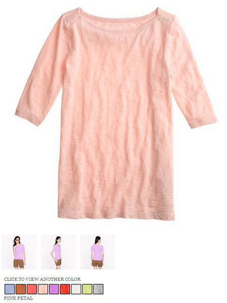 j.crew painter elbow-sleeve boatneck tee